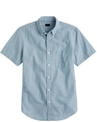 Blue Chambray Short Sleeve Shirt