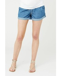 Ripe Maternity Chambray Combat Shorts
