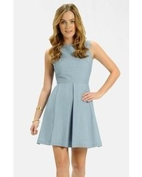 Label by five twelve chambray fit flare dress medium 70845