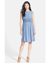New york blair chambray fit flare dress medium 70844