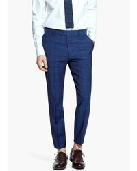 Mango Check Wool Suit Trousers