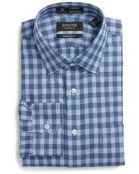 Shop smartcare traditional fit check dress shirt medium 1150274