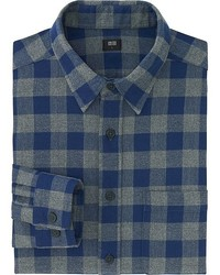 Uniqlo Flannel Buffalo Check Long Sleeve Shirt