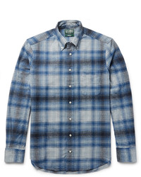 Gitman Brothers Gitman Vintage Button Down Collar Checked Cotton Flannel Shirt