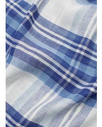 Mango Outlet Check Linen Blend Scarf