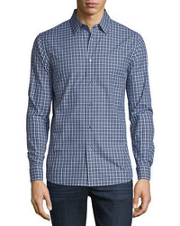 Michael Kors Michl Kors Gunnar Tailored Fit Check Sport Shirt