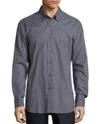 Brioni Mid Check Long Sleeve Shirt