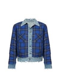Blue Check Shirt Jacket