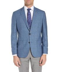 Ted Baker London Fit Windowpane Check Wool Sport Coat