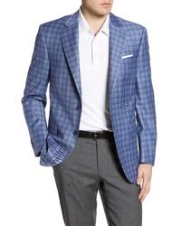Peter Millar Flynn Classic Fit Check Wool Sport Coat