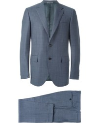 Canali Checked Notched Lapel Suit