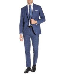 Ted Baker London Fit Windowpane Wool Suit