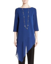 St. John Collection Asymmetrical Stretch Cady Top