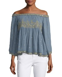Love Sam Off The Shoulder Beaded Top