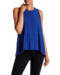 Sleeveless pleated chiffon blouse medium 3674649