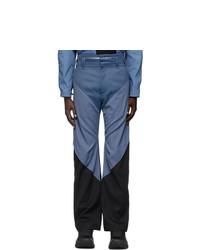 Kiko Kostadinov Blue And Black Triple Dart Trousers
