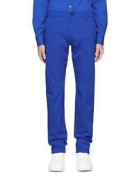 Alexander McQueen Blue Graffiti Badge Jeans