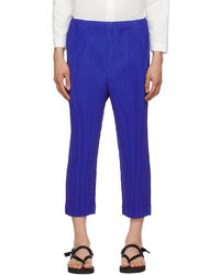 Homme Plissé Issey Miyake Blue Monthly Color April Trousers