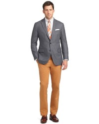 Brooks Brothers Milano Fit Plain Front Dress Chinos