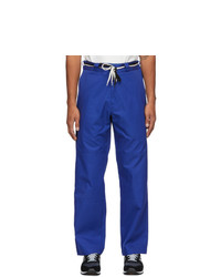 4SDESIGNS Navy Hd Twill Work Trousers