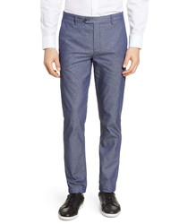 Ted Baker London Slim Fit Plain Front Pants