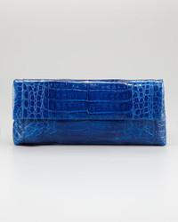 Nancy Gonzalez Soft Flap Crocodile Clutch Bag Medium