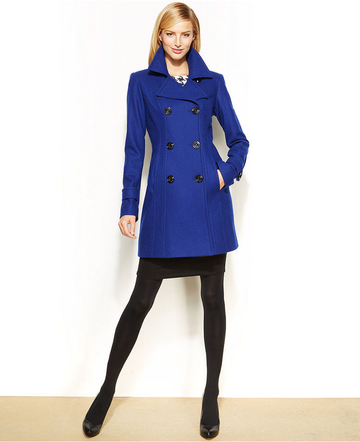 Royal Blue Pea Coat - Tradingbasis