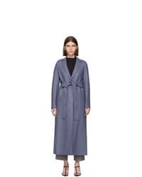 Harris Wharf London Blue Pressed Wool Coat