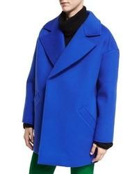 Oscar de la Renta Oversized Notch Collar Coat