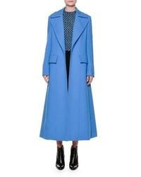 Marni Portrait Collar A Line Coat Azure