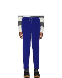 Moncler Blue Velvet Sportivo Trousers