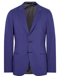 Paul Smith Blue Slim Fit Modal Cotton And Cashmere Blend Blazer