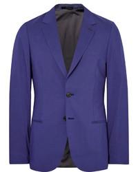 Paul Smith Blue Slim Fit Modal Cotton And Cashmere Blend Blazer