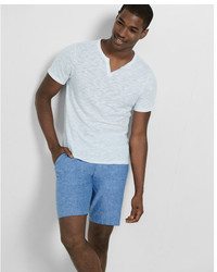 Express Classic Fit 10 Inch Linen Cotton Flat Front Shorts