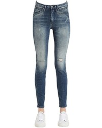 Destructed sculpted skinny cotton jeans medium 3757097