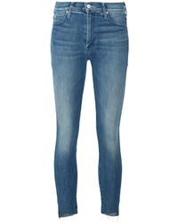 Mother Frayed Skinny Jeans