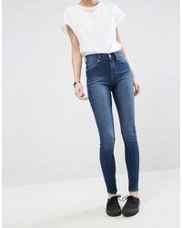 Cheap Monday Spray On High Waist Organic Cotton Skinny Jeans