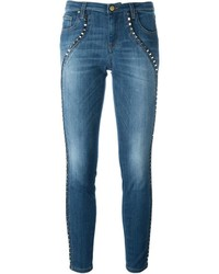 Versace Collection Studded Skinny Jeans