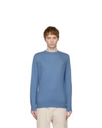 Loro Piana Blue Baby Cashmere Bryce Sweater