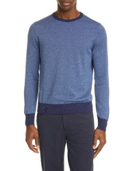 Canali Classic Fit Dot Cotton Crewneck Sweater