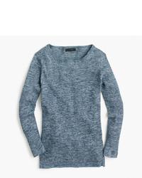 J.Crew Italian Linen Blend Ribbed Crewneck Sweater