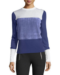 Marissa crewneck colorblock sweater medium 5359888
