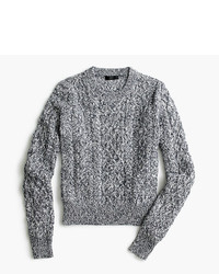 Marled cable crewneck sweater medium 1033265