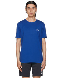 BOSS Blue Curved T Shirt