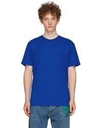 Alexander McQueen Blue Graffiti Oversized T Shirt