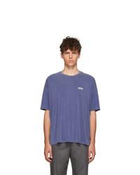 We11done Blue Oversized Logo T Shirt