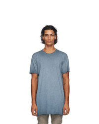 Boris Bidjan Saberi Blue Resin Dyed T Shirt