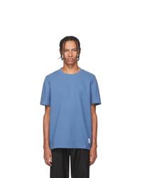 Thom Browne Blue Rwb Stripe Relaxed Fit T Shirt