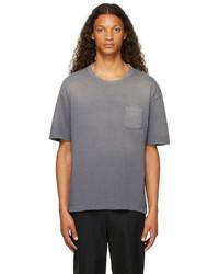 VISVIM Navy Jumbo Crash T Shirt