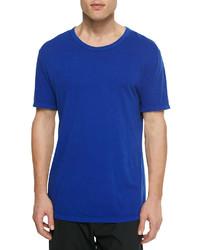 Alexander Wang T By Short Sleeve Crewneck Jersey Tee Blue